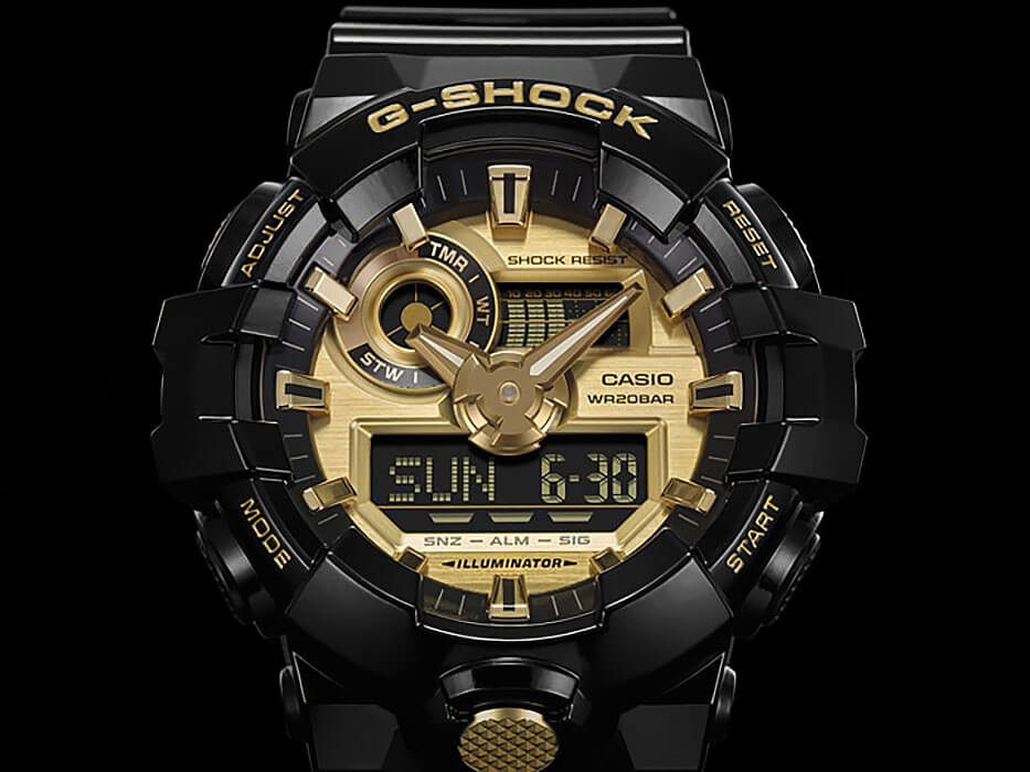 Часы Casio G-Shock GA-710GB-1AER